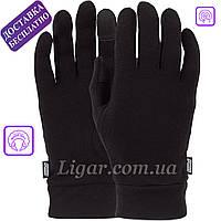 Качественные черные перчатки для сенсорных экранов POW Merino Liner