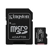 Карта памяти MicroSDXC 128GB UHS-I Class 10 Kingston Canvas Select Plus R100MB/s + Adapter SD