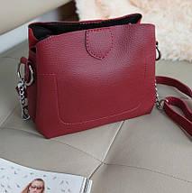 Женская комбинированная сумка кросс-боди с плечевым ремнем 20*23*10 см, фото 2