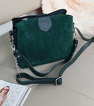 Женская комбинированная сумка кросс-боди с плечевым ремнем 20*23*10 см, фото 3