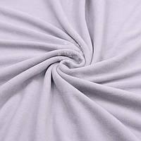 Однотонный х/б велюр бледно-серого цвета