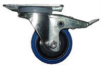 FREE CASE W04 (37091), Колесо с тормозом 80 мм синее