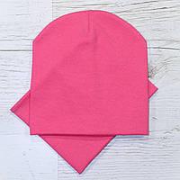 Демисезонная трикотажная шапка комплект корал 52-56р.