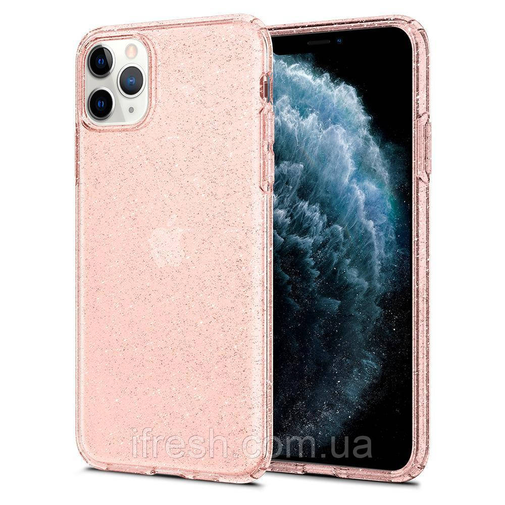 Чехол Spigen для iPhone 11 Pro Max Liquid Crystal Glitter, Rose Quartz (075CS27132)