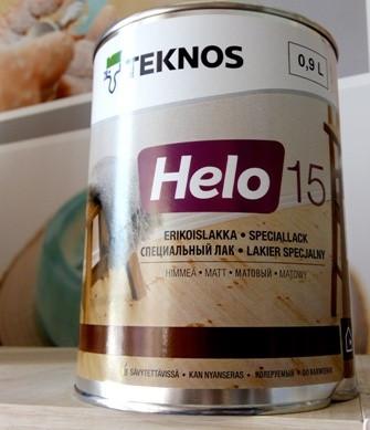лак уретан-алкидный TEKNOS HELO 15  матовый 0,9л.