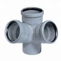 Крестовина внутренней канализации Profil 50x50x50 мм угол 90