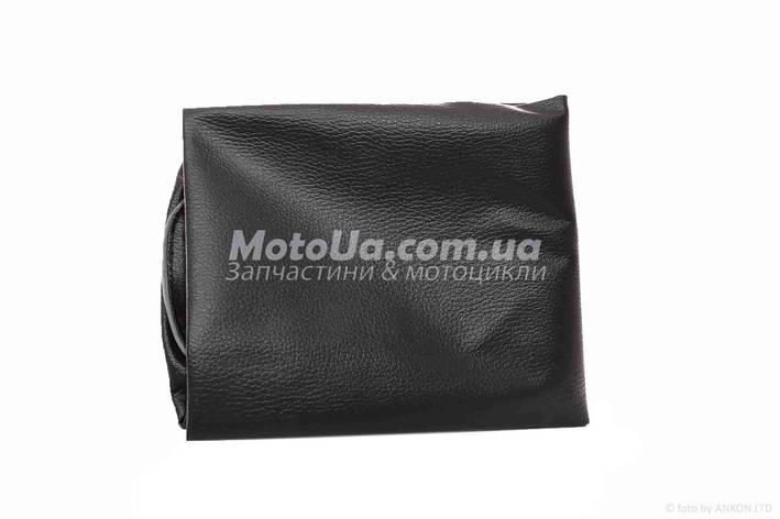 Чохол сидіння Yamaha JOG SA36/39 чорний, світловідбиваючий кант JD, фото 2