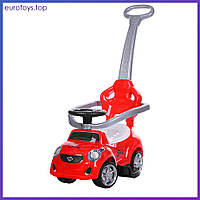 Машинка-толокар Bambi  FD-6812-3 красная Машинка-толокар з ручкою червона Бемби