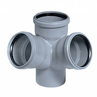 Крестовина внутренней канализации Profil 110x50x50 мм угол 90