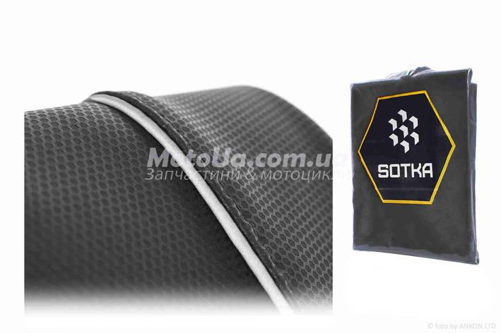 Чохол сидіння Yamaha JOG SA36/39 чорний, світловідбиваючий кант SOTKA, фото 2
