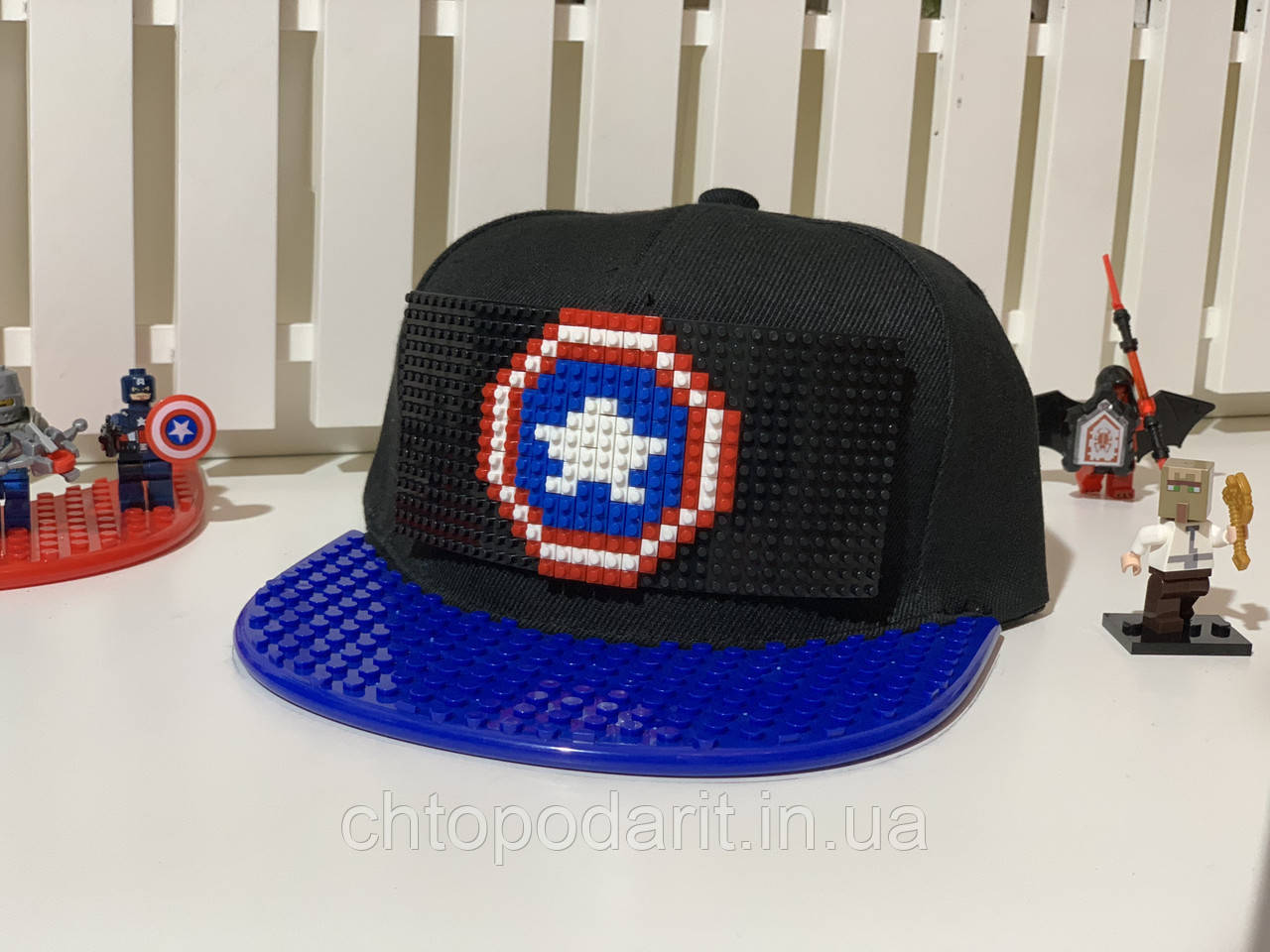 "Бейсболка конструктор ""Капитан Америка"" Код 12-0919"