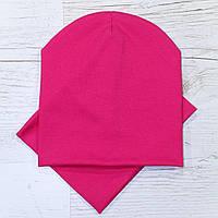 Трикотажные Пустые Комплект шапка + баф малина 48-52р.