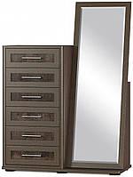 Токио Комод 6Ш Зеркало МЕБЕЛЬ СЕРВИС (116.5х47.5х161 см) 97 кг, фото 1