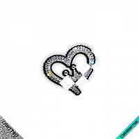 Нашивки для бизнеса на самоги Сердце (ss10кристалл, ss20 кристалл)
