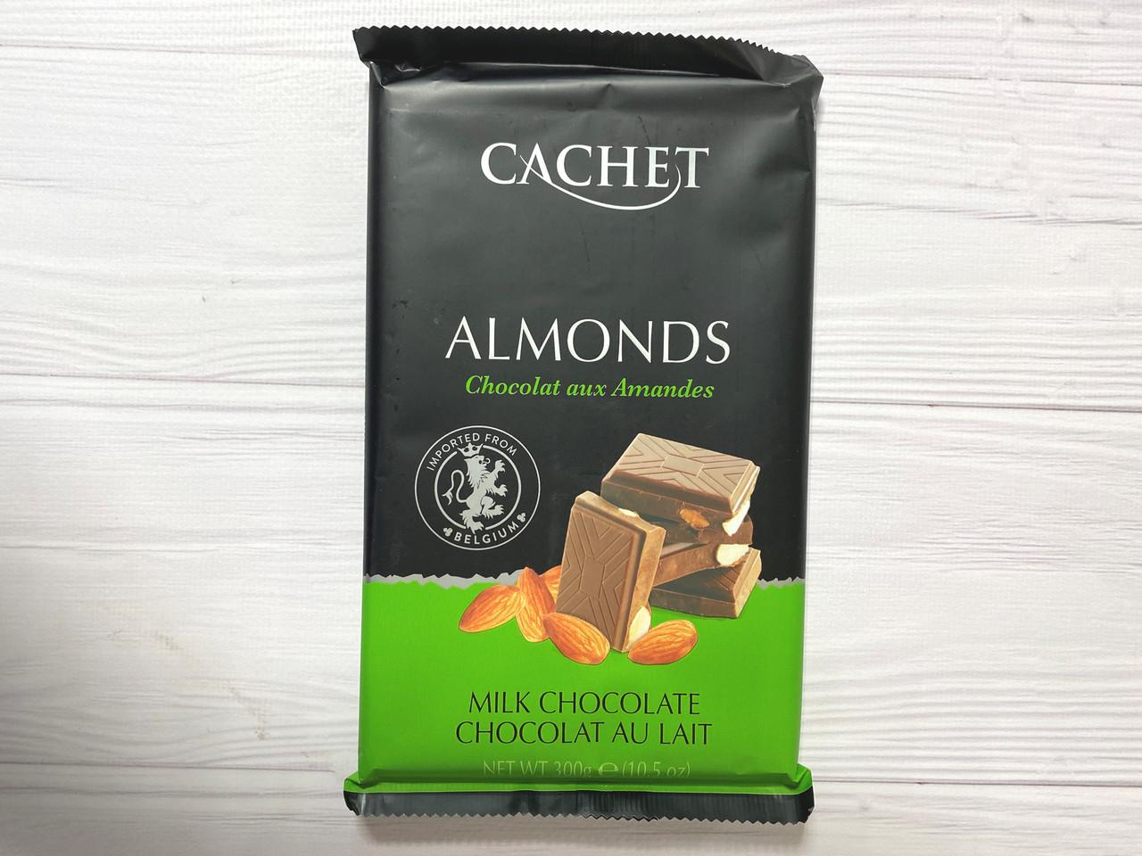 Бельгийский шоколад Cachet (Кашет) молочный 32% какао с миндалем