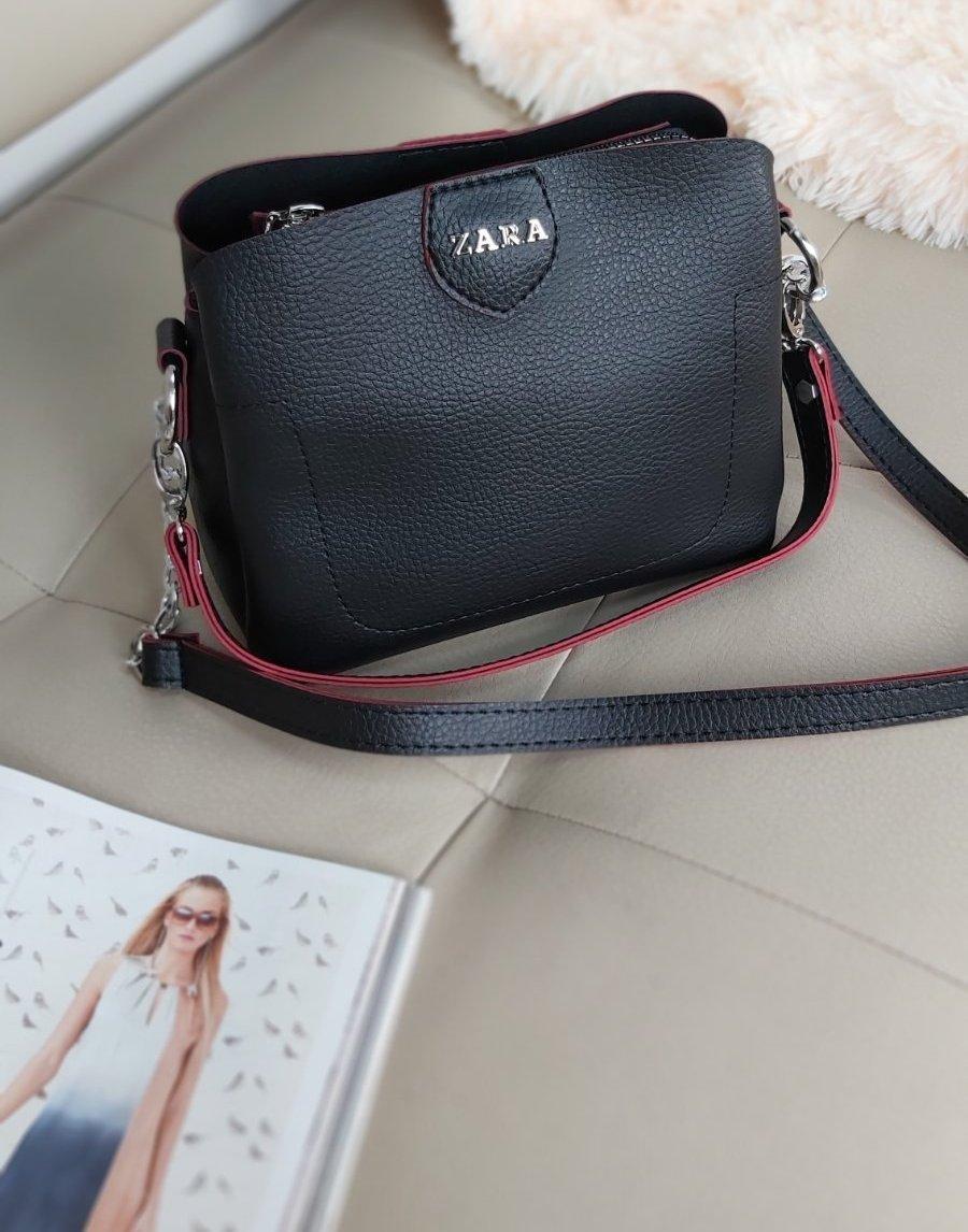 Женская сумка кросс-боди с ручкой и плечевым ремнем 20*23*10 см