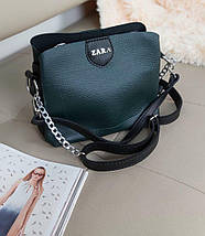 Женская сумка кросс-боди с ручкой и плечевым ремнем 20*23*10 см, фото 3