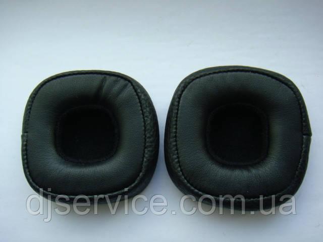 Амбушюры черные (подушечки) всборе с каркасом для наушников Marshall Major II, III Mid anc Bluetooth
