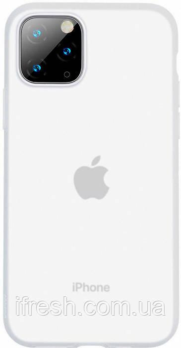 Чехол Baseus для iPhone 11 Pro Jelly Liquid Silica Gel, Transparent White (WIAPIPH58S-GD02)