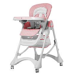 Стільчик для годування (стульчик для кормления) CARRELLO Caramel CRL-9501/3 Candy Pink (1шт) у кор.