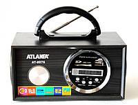 Портативная колонка Портативная акустическая система ATLANFA AT-8976 светодиодный дисплей MP3/microSD/SD/USB