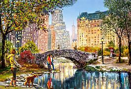 Пазлы 1000 элементов Castorland 104376 Вечерняя прогулка через Центральный парк