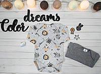 Комплект из двух боди с длиным рукавом для новорожденного