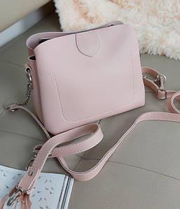 Молодежная сумка кросс-боди с одной ручкой и плечевым ремнем 20*23*10 см