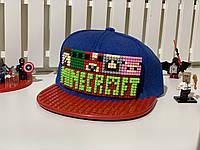 """Бейсболка конструктор """"Майнкрафт"""" салатовый Код 12-0813"""