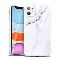 Чехол ESR для iPhone 11 Marble Slim, White (4894240091951)