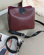 Женская сумка кросс-боди двухцветная 20*23*10 см, фото 3