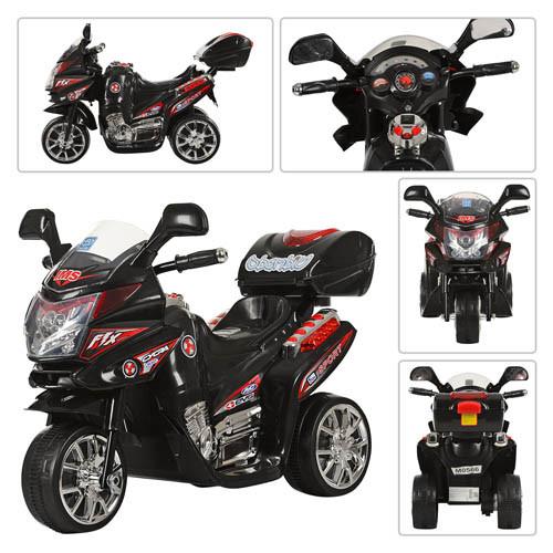 Електромобіль Мотоцикл M 0565 чорний BAMBI