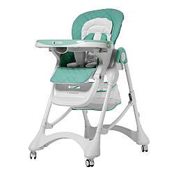 Стільчик для годування (стульчик для кормления) CARRELLO Caramel CRL-9501/3 Aqua Green (1шт) у кор.