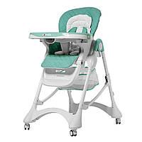 Детский стульчик для кормления CARRELLO Caramel / Green / Aqua Green, фото 1