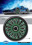 Колпаки колесные Lemans Pro Green Black R13, фото 2