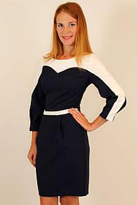 Комбинированное модное платье 42-48 р