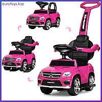 Машинка-толокар Bambi M 3186L-8-2 розовая Машинка-толокар з МР3 рожева Бемби