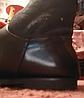 Ботинки сапоги полусапожки женские(ДЕТСКИЕ) черные с оранжевым мехом 36 р, фото 2