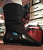 Ботинки сапоги полусапожки женские(ДЕТСКИЕ) черные с оранжевым мехом 36 р, фото 3