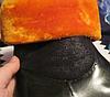 Ботинки сапоги полусапожки женские(ДЕТСКИЕ) черные с оранжевым мехом 36 р, фото 4
