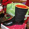 Ботинки сапоги полусапожки женские(ДЕТСКИЕ) черные с оранжевым мехом 36 р, фото 5