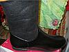 Ботинки сапоги полусапожки женские(ДЕТСКИЕ) черные с оранжевым мехом 36 р, фото 7