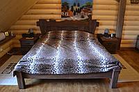 Кровать двухспальная деревянная с прикроватными тумбами