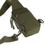 Тактическая EDC сумка однолямочная. Цвета: олива, койот, чёрный, фото 6