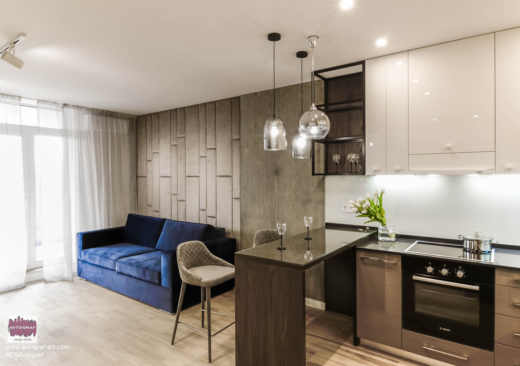 "ЖК ""Central park"" - modern apartment with loft elements."