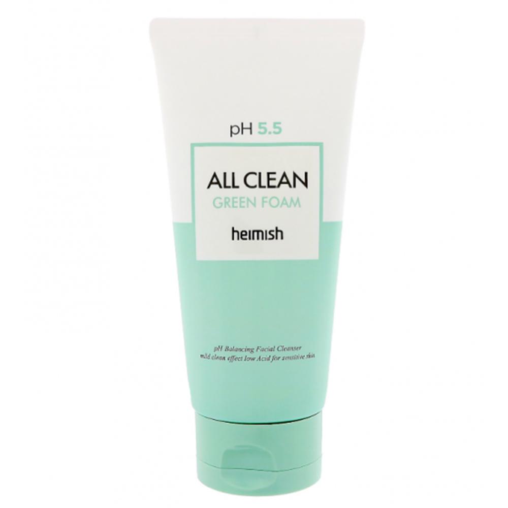 Пенка для умывания с pH 5.5 Heimish All Clean Green Foam, 150 г