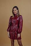 Платье женское из эко кожи чёрное, бордо, 42-44, 46-48, фото 10