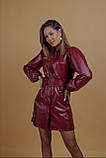 Платье женское из эко кожи чёрное, бордо, 42-44, 46-48, фото 9