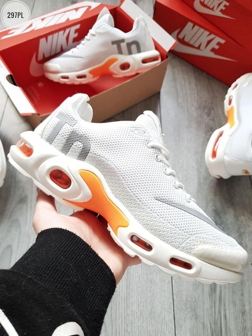 Мужские кроссовки Nike Air Max Tn (белые) 297PL