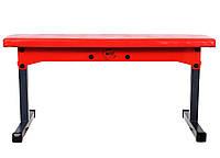 Скамья для жима горизонтальная складная WCG Red под штангу, фото 1